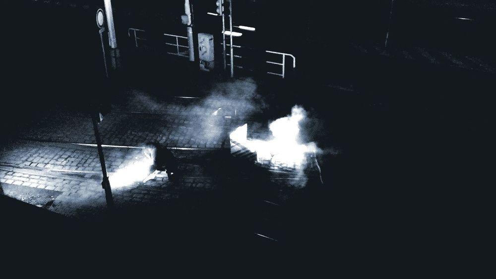 Work Walking Nightphotography Night Flash