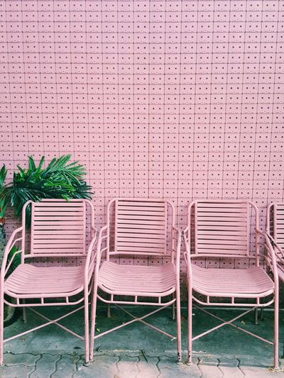 Pink chairs with pink background Copy Space Furnitures Furniture Design Colorful Sweet Cool Green Warm Nature Cassette Pattern Pink Decoration Wall Indy Pastel Nobody Backgrounds Outdoor Design Garden Seat Sit Sitting Outside Chair Detail Architectural Detail EyeEmNewHere