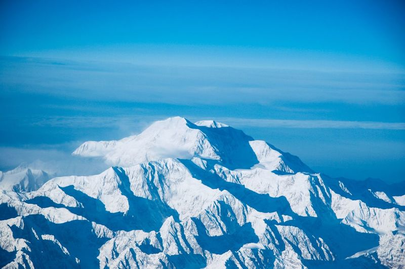 Denali from 38,000 feet Taken From Airplane EyeEm Selects Scenics - Nature Cold Temperature Winter Beauty In Nature Snow Tranquil Scene Environment Mountain Tranquility Landscape Blue Nature Sky Sea Idyllic No People Non-urban Scene Ice Day Outdoors
