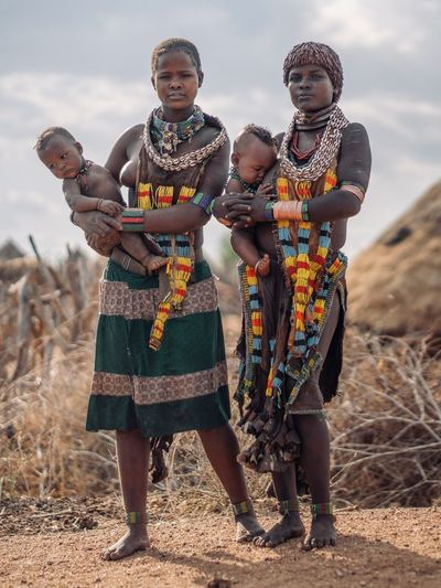 Hamerwoman Tribe Portrait Of A Woman Tribes Tribal Portrait Photography Ethiopia Ethiopian Photography 🇪🇹 Omo Valley Portraits Ethiopian African Africa Sky Nature Group Of People Men Adult Clothing Land Standing Full Length Togetherness Sunlight People Lifestyles Day Traditional Clothing Leisure Activity Friendship