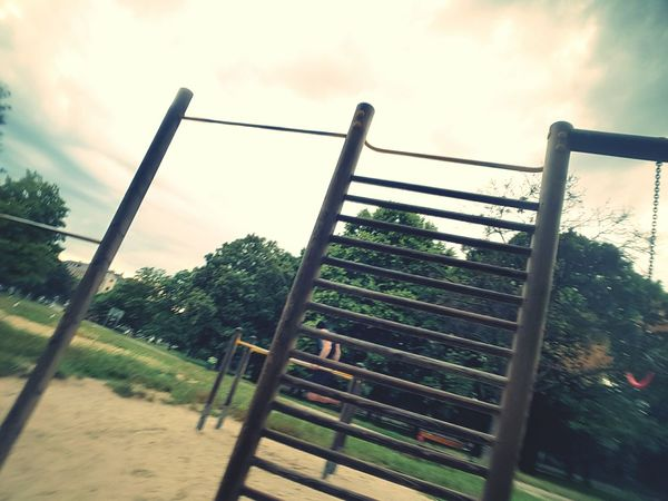 Accidental Shot Nature Workout Time Vienna Prater Cloudy Day Rain