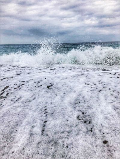 Seaside Travel Photography Sea Foam By The Sea Big Splash Seascape Costa Del Sol Seaside Cloud - Sky Sky Water Sea Nature Beauty In Nature No People Day Scenics - Nature Outdoors Horizon Over Water