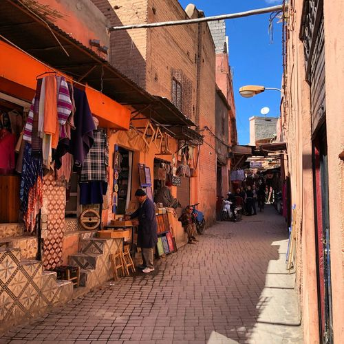 Enter the souks of Marrakech Wakandaforever Africa Morocco Marrakech Built Structure Store Building Exterior Outdoors Architecture Market Day Adult City