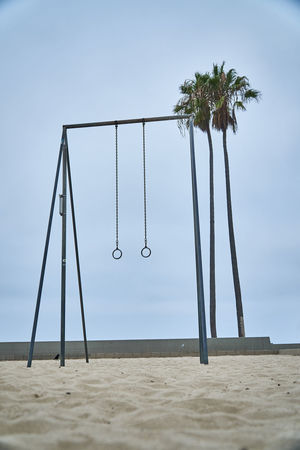 Calisthenics Area in Venice Beach Sand Palm Tree Land Sky Nature Tropical Climate Beach Outdoors Clear Sky No People Playground Architecture Fitness Fitness Training Calisthenics