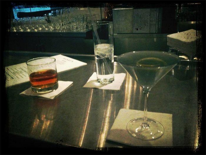 Friend drinks...