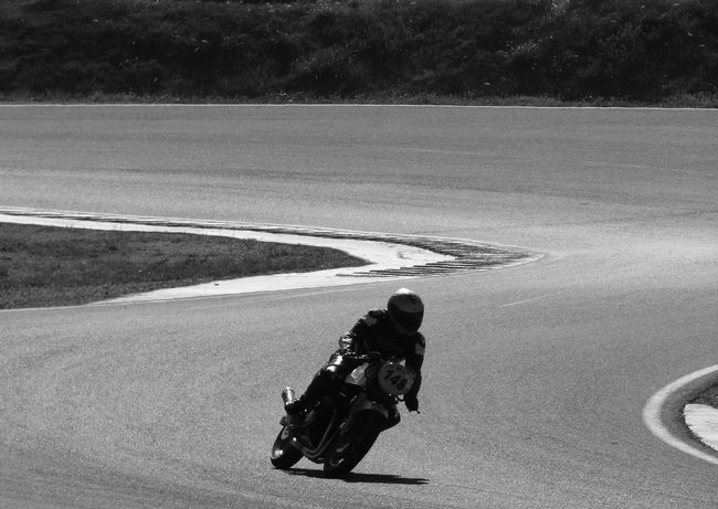 Motorcycle Race Black And White Competition Competition Day Day Double Curve Monochrome Outdoors People Welcome To Black One Person