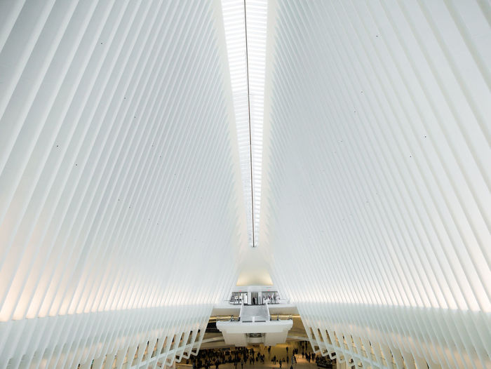 Architecture Built Structure Indoors  Pattern Transportation No People Low Angle View Technology Modern Day Ceiling The Way Forward Convenience Public Transportation Connection Building Futuristic Tunnel Sunlight 911memorial 911