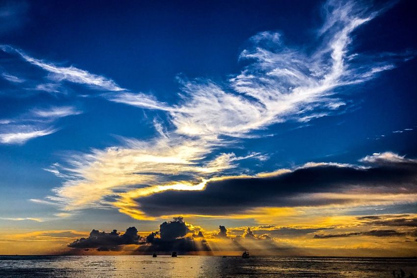 Sky Water Cloud - Sky Sea Scenics - Nature Beauty In Nature Land Nature Beach Tranquil Scene Nautical Vessel Sunset Horizon Over Water Sunlight Outdoors Leisure Activity