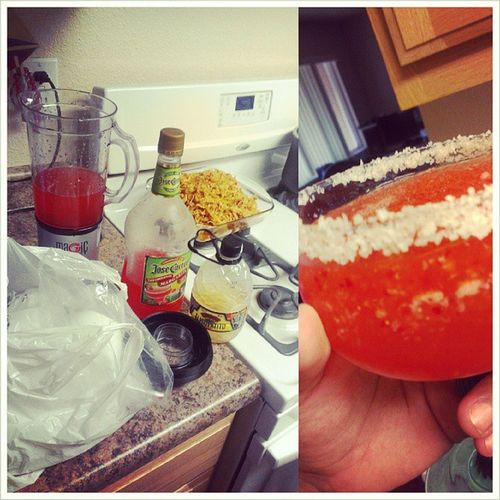Made my mom some Margaritas and Tinga to eat since rain had me in the house all day KillBoredom