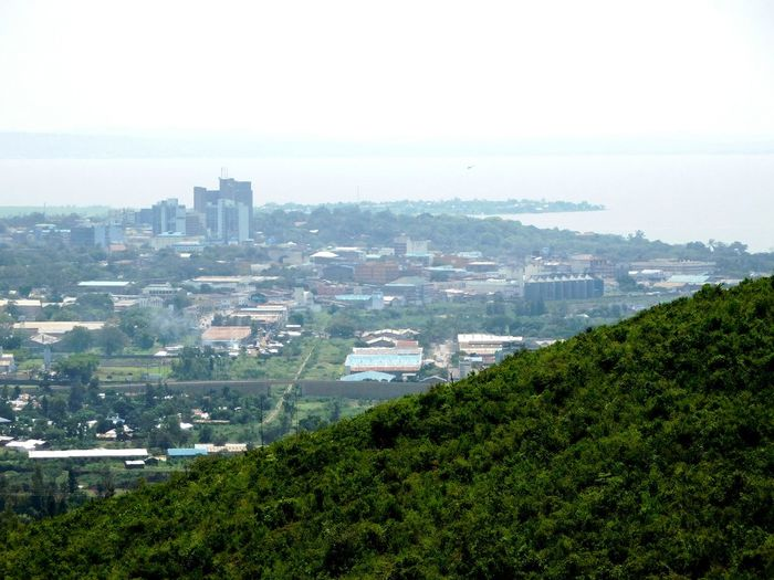 Lake City, Lake Victoria Lake Town Lake Victoria In The Distance Lake Victoria City Cityscape Architecture Skyscraper Urban Skyline High Angle View Building Exterior No People Business Finance And Industry Outdoors Day Downtown District Sky Aerial View Built Structure Growth Landscape Nature