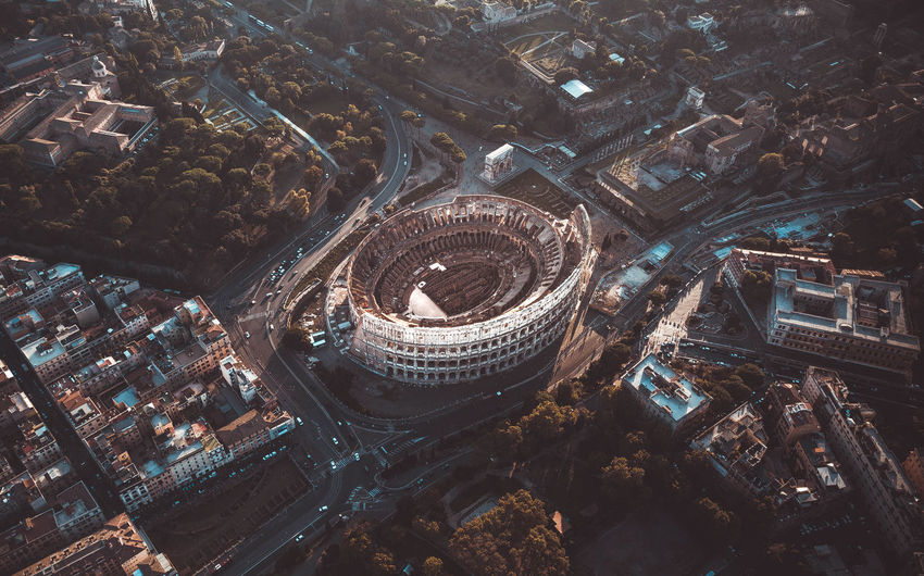 Colosseum Architecture Built Structure Building Exterior City High Angle View Building Cityscape Crowd Aerial View Travel Destinations Travel Crowded Day Tourism Nature Outdoors History The Past Skyscraper Coliseum Rome Italy Antique