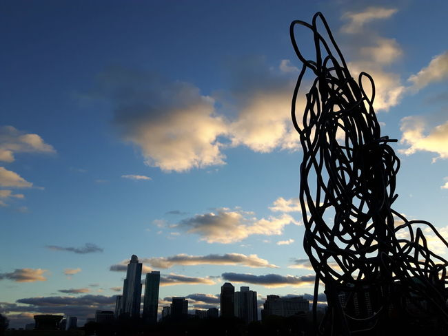 Sunset Cloud - Sky Outdoors No People Sky Grant Park Chicago Architecture Chicago Sculpture