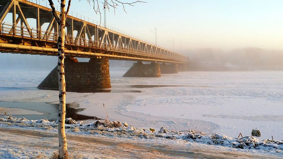 On my way to university. Have to cross this brigde every morning. Architecture Connection River Water Nature No People Foggy Finland Lapland Winter Nature Photography Snow Covered Outdoors Cold Temperature Ice Snow Lake Frozen Bridge Nofilterneeded Rovaniemi Sunrise Landscape Santa Claus Village EyeEmNewHere