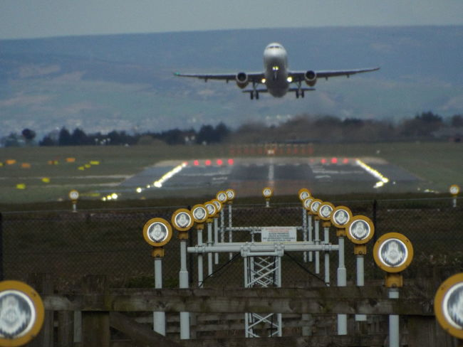 Airport Plane Plane Lights Take Off Manchester Airport Plane AirPlane ✈ Airplane Aircraft Airport Runway Ground Landing Lights Landing Lights Taking Off Taking Off. Take Off! Runway Lights Tourism Mobility In Mega Cities