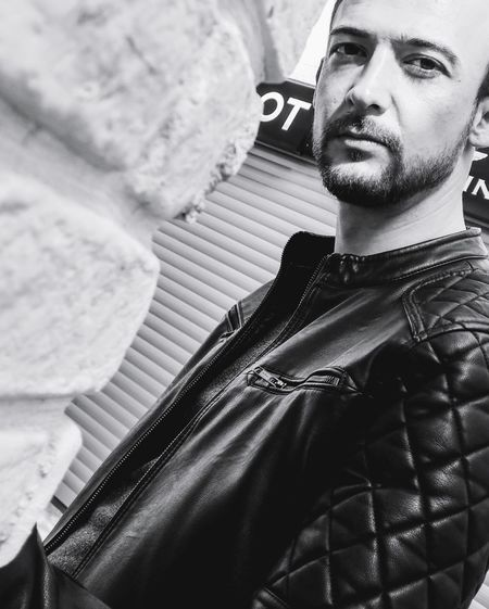 black&white model Leather Coat Coat Deri Man Sexyselfie Black&white Model Men Portrait Human Hand Headshot Human Face Close-up Thinking This Is Masculinity
