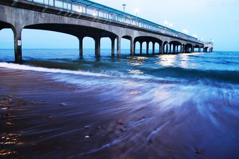 Bchdesign Clouds And Sky Sea Bournemouth Beach Boscombe Pier  Long Exposure Reflection