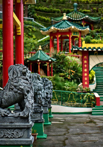 Architecture Chinese Lion No People Outdoors Place Of Worship Religion Statue Temple Travel Destinations