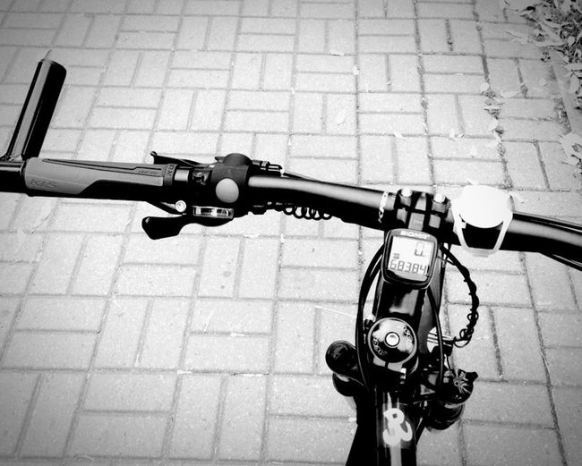 Handlebar Bicycle One Month Ago. Old Photo Cycling Around EyeEm Cycling Club Blackandwhite High Contrast My Bicycle EyeEm Cyclist Starting A Trip