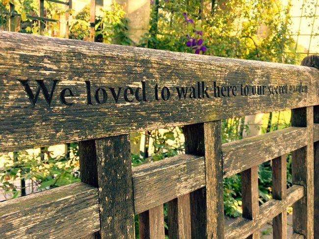 Wood - Material Outdoors Nature Relaxing Memories Secret Garden Bench Seat Bench