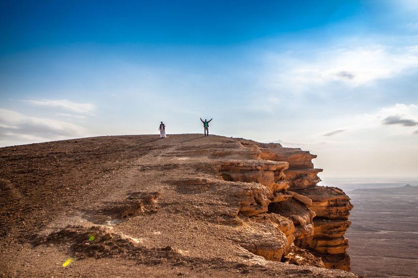 Edge of the world at the edge of Tuwaiq mountains in Riyadh, Saudi Arabia Adventure Desert Edge Of The World Mountains Nature Riyadh Riyadh KSA Saudi Arabia Tuwaiq Tuwaiq Mountains The Great Outdoors - 2016 EyeEm Awards The 2016 EyeEm Awards