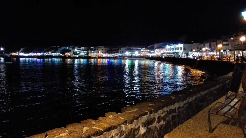 Learn & Shoot: After Dark Lanzarote Islas Canarias Turismocanarias Nightphotography Night Lights Night Beach Playa Noche Nocturna Reflections