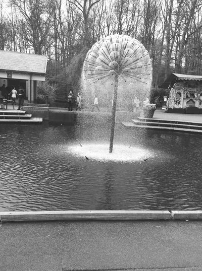 Fountain Water Day The Week On EyeEm People At The Background Eyeem Black And White Photography Keukenhof Garden in The Netherland❤