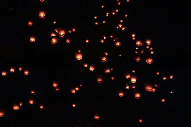 Lantern Nightphotography Taiwan Black Background Canon Celebration Flying Glowing Illuminated Large Group Of Objects Lighting Equipment Night No People Orange Color Outdoors Photography Pingxi Sky Lantern