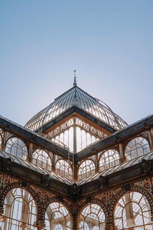 Built Structure Clear Sky Palacio De Cristal Madrid Madrid Spain Retiro Velázquez EyeEm Best Edits EyeEmBestPics EyeEm Best Shots The Week On EyeEm Architecture Angles And Views Angles And Lines Symmetry Symmetrical The Architect - 2018 EyeEm Awards