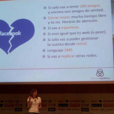 """@inmaferragud """"No quieres estar en Facebook si..."""" Cw12 Smcw Fotoscw"""