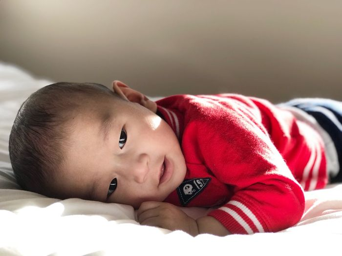Nephew ❤️ Lying Down Bed Real People One Person Relaxation Childhood Home Interior Cute Indoors  Leisure Activity Lifestyles Bedroom Portrait Day Close-up Young Adult People