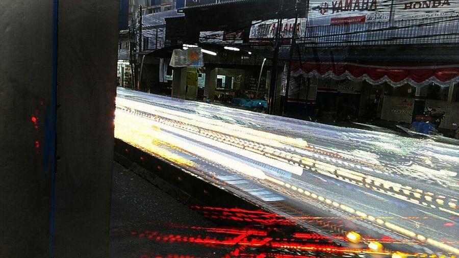 Light Trails Jakarta Shutterspeed 1/13 Cold Temperature Winter Ice Hockey Snow Built Structure