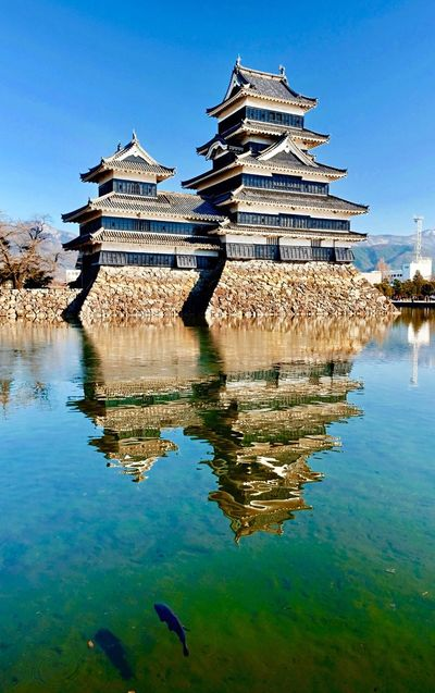 Architecture Water Built Structure Reflection Building Exterior Day Place Of Worship Outdoors Lake No People Sky Animal Themes Nature Cultures