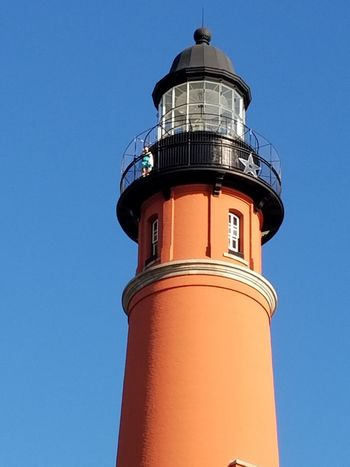 Day at Ponce Inlet Lighthouse Building Exterior Protection Low Angle View Sky Clear Sky