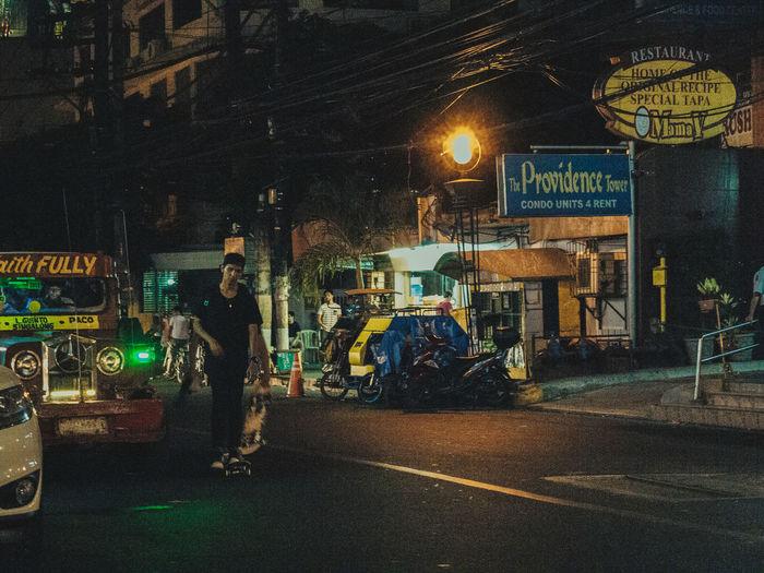 Skaters gonna skate Night Illuminated Street Mode Of Transport Skater Leon Guinto Grain The Street Photographer - 2017 EyeEm Awards Neighborhood Map