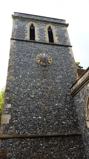 Low Angle View Built Structure Outdoors No People Countryside Uk Village View Churchtower