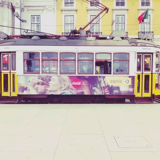 On The Railway Tramway Edit By Me Using Retrica ;) Daylight :-) Sunshine ☀ Morning Transport Front View Frontside Colors City Life Taken With My Phone ✌🏻️😂 - Coca Cola Advertised-😝 Small Windows Urbanphotography Original Photo Showing Imperfection Everyday Life The Street Photographer - 2016 EyeEm Awards