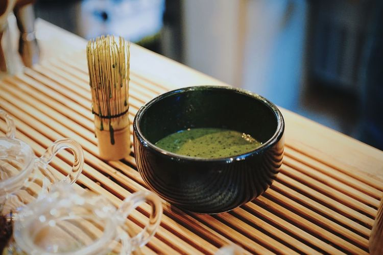 Matcha Tea Tea Ceremony Green Tea Food And Drink Cultures Japanese Food Indoors  No People Japanese Tea Cup Close-up Freshness Healthy Eating Ready-to-eat Day Style Art Beverage Produce Fresh Asian Culture Asien Zen Japanese  Japanese Style Cup