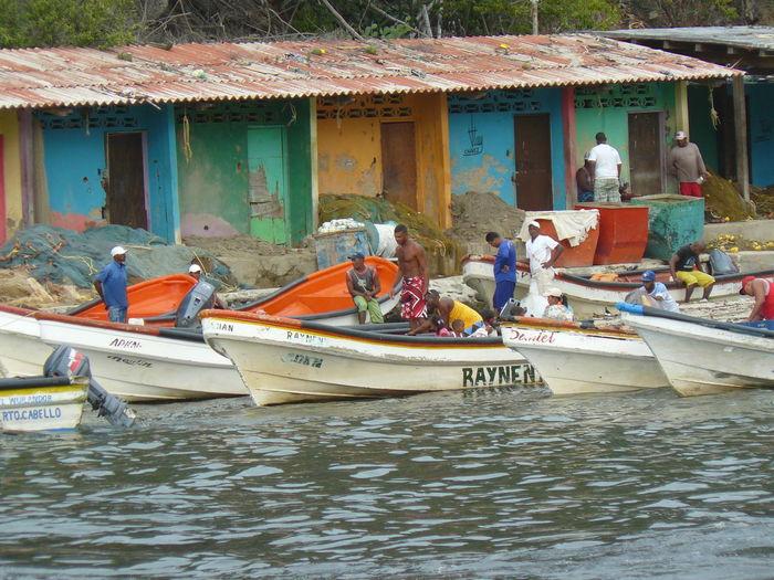 Beach Choroni Fishmen Nature Outdoors Pescadores Playa Town Venezuela Water No Filter, No Edit, Just Photography