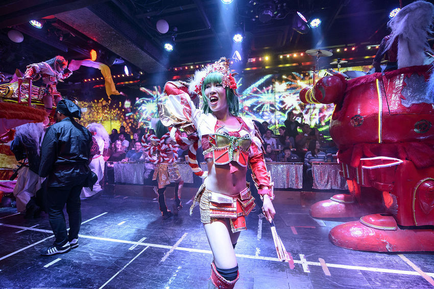 Performance at the Robot Restaurant Adult Adults Only Colorful Colourful Crowd Dance Full Length Fun Illuminated Indoors  Indoors  Kabukicho Large Group Of People Music Nightlife People Performance Performer  Performing Arts Event Robot Restaurant Shinjuku Stage - Performance Space Stage Light