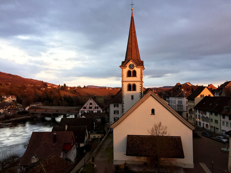 Diessenhofen Rhein Rheinufer Architecture Beauty In Nature Building Exterior Built Structure Cloud - Sky Day Mountain Nature No People Outdoors Place Of Worship Religion Sky Spirituality Travel Destinations Water