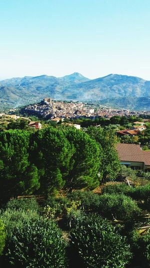 Castelbuono Sicilia Sicily Madonie Mountains Cityscape Town Vibrant Color Beauty In Nature Nature Outdoors Sky