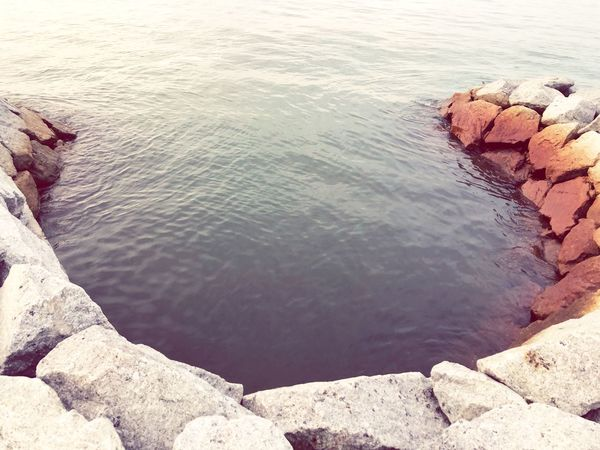 EyeEm Selects Water Nature High Angle View Beauty In Nature Tranquility Day Sea Beach Rock Scenics - Nature No People Outdoors Non-urban Scene First Eyeem Photo EyeEmNewHere