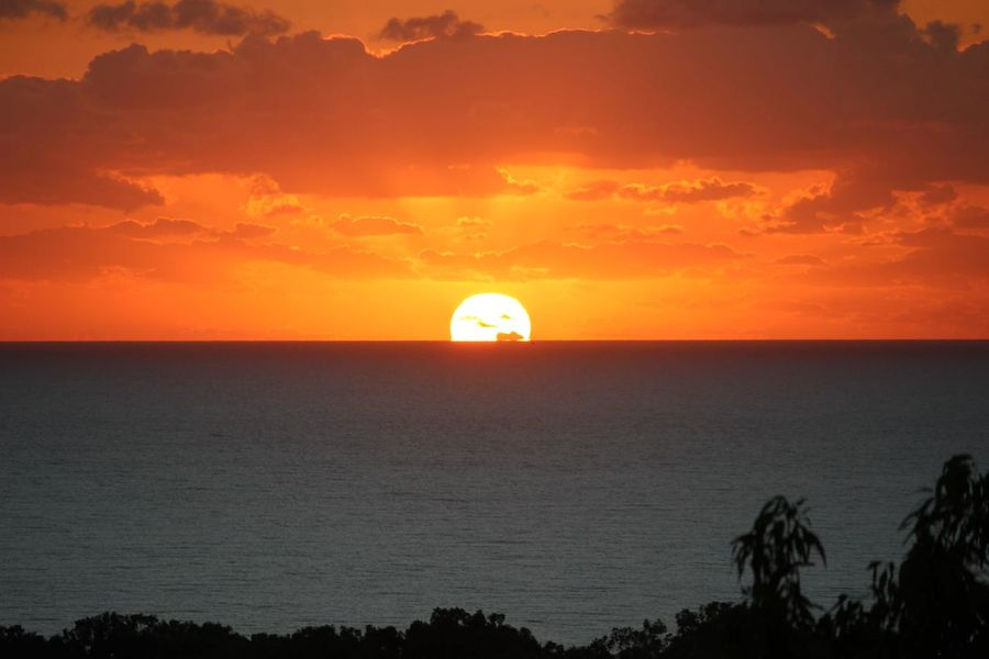 No Filter Sunrise Sunrise_sunsets_aroundworld Sun Silhouette Scenics Dramatic Sky Sky Sea Horizon Nature Travel Destinations Travel Sunlight Weekend Getaway Coral Sea Vacations Backgrounds First Eyeem Photo Paradise Tropics Cairns, North Queensland, Australia