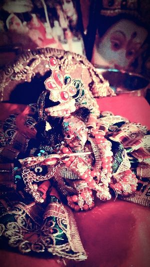 Jai Shree Krishna Red No People Cultures Indoors  Animal Themes Close-up Christmas Decoration Day First Eyeem Photo