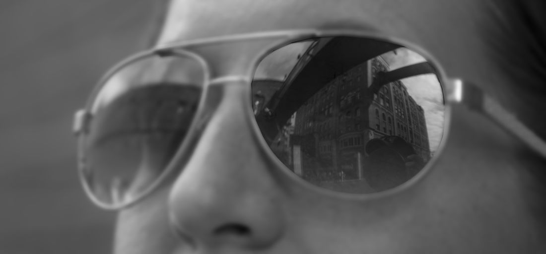 Close-up Day One Person Outdoors People Real People Reflection Sunglasses