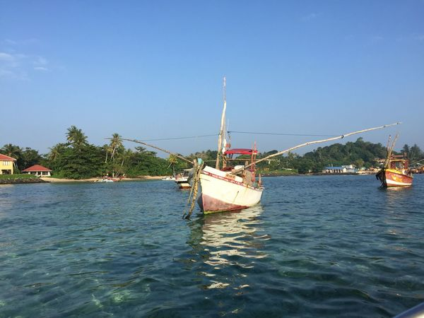 Beauty In Nature Clear Sky Day Mode Of Transport Nature Nautical Vessel No People Outdoors Sailing Ship Scenics Sea Sky Sri Lanka Sri Lanka Travel Sunny Tranquility Transportation Travel Destinations Water Waterfront