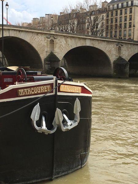 Boat on River Seine Paris ❤ By Cathy Badi