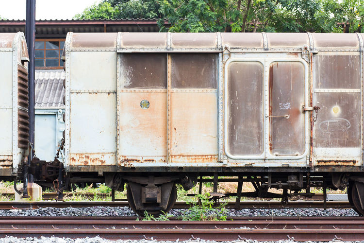 Railroad container with more rusty old