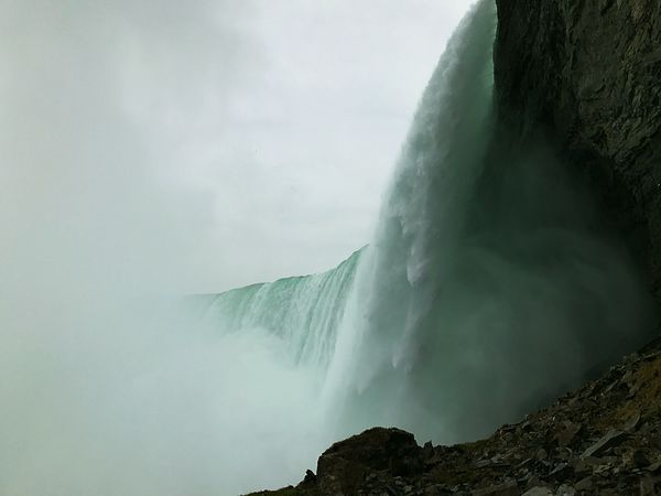From below Niagara Falls Water Nature Beauty In Nature Motion Power In Nature Waterfall Scenics Day Sky No People Outdoors Physical Geography Cold Temperature Niagara Falls Niagara Niagarafalls NiagaraFallsCanada Niagara Falls Canada Niagara Falls NY Waterfalls Waterfall_collection Waterfall #water #landscape #nature #beautiful Waterfalls💦