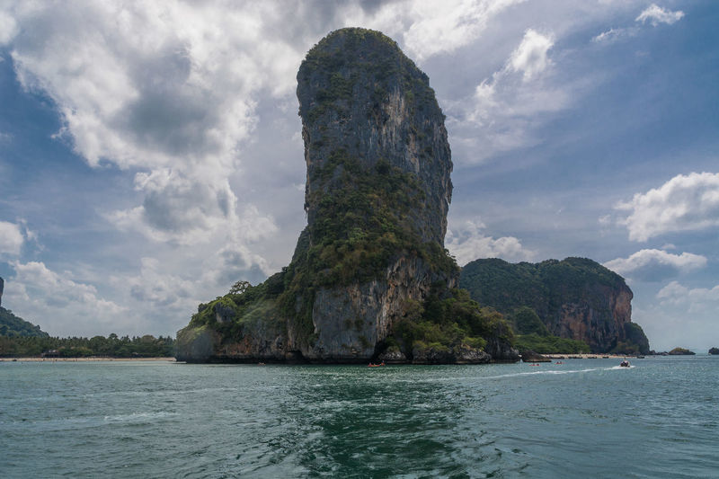 Krabi Krabi Thailand Beauty In Nature Cloud - Sky Day Island Land Nature No People Non-urban Scene Outdoors Rock Rock - Object Rock Formation Scenics - Nature Sea Sky Solid Stack Rock Tranquil Scene Tranquility Water